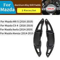 Black Steering Wheel Shift paddle Shifter Extension For Mazda Axela Atenza MX-5