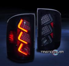 2014-2017 GMC SIERRA 1500/2015+ 2500HD 3500HD LED TAIL LIGHTS LAMPS BLACK/SMOKE