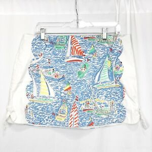 Lilly Pulitzer Maritime Skort Get Nauti Size 12 Blue Green White Multicolor