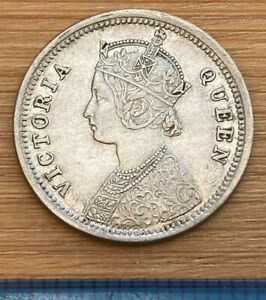 British India Quarter Rupee Victoria 1862 (ref #8)