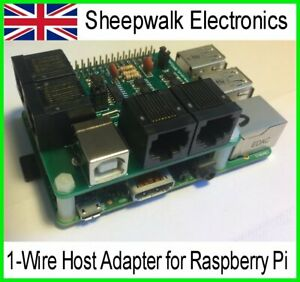 RPI3v2 8 channel 1-Wire Host Adapter for Raspberry Pi
