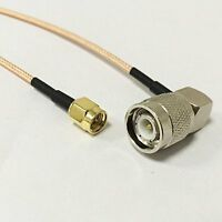 SMA male plug to TNC male angle RA pigtail cable 6inch 15cm for wireless router