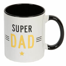 Gift Boxed White Mug with Black / Gold - Fathers Day - Super Dad
