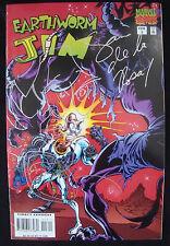 Earthworm Jim Marvel Comic #3 Signed with Sketch Sam De La Rosa Rare