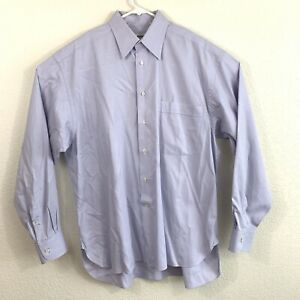 Lorenzini Neiman Marcus Men's Dress Shirt 16/41 L Purple Made In Italy
