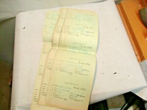 25 - 1960 Baltimore & Ohio B&O Railroad Employee Trip Pass Ticket Stub Strips NR