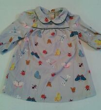 BABY BODEN Dress Size 6 12 months BUG BUGS BUTTERFLIES BEES LADYBUGS Nature