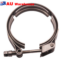 """Universal Quick Release 3"""" V-Band Clamp And Collar 76mm 304 Steel +Flange"""