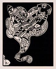 Woodcut/Block Original Abstract Art Prints