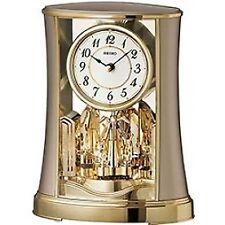 Seiko Rotating Pendulum Clock Gold Analog QXN227G