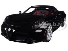 ALFA ROMEO 4C GLOSS BLACK 1/18 MODEL CAR BY AUTOART 70184