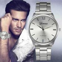 Élégant-montre-Homme-Cadran Noir-Or-Inox-Acier-Date-Quartz-Montre-Quartz