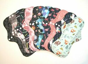 SETS OF 3 & 5 Reusable Charcoal Heavy Flow / Night / Maternity Sanitary Pad *UK*