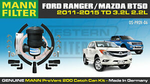 ProVent Oil Catch Can Kit for Ford Ranger PX P4AT 3.2L 2.2L Mazda BT50 2011-15