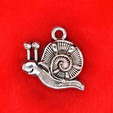 6 x Tibetan Silver Cute Snail GARDENING Charm Pendant Finding Beading Making
