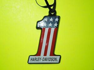 Harley-Davidson® Vintage #1 Ceramic Christmas Ornament Red/White/ P/N 96850-16V