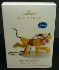 2012 Hallmark Sled Pullin' Pluto Ready! Set! Snow! Ornament New