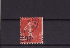 timbre France   Semeuse  surchargé   90c sur 1f05   num: 227  oblitéré