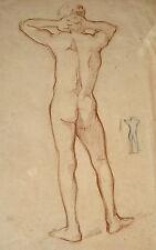 Dessin académie de nu Ernest Pierre GUÉRIN modèl vivant  Drawing Academy naked