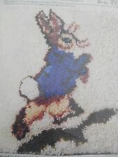 Rare Oop 1978 Peter Rabbit Latch Hook Canvas Beatrix Potter Erica Wilson
