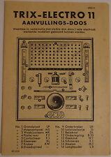 TRIX Anleitung auf Niederländisch Electro 11 # å