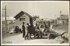 38 LES EGATS POSE CABLE TELEPHONE GRANDE PHOTO 1950