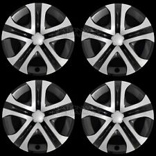 "4 Silver & Black 2013-2018 Toyota Rav4 LE 17"" Hub Caps Full Rim R17 Wheel Covers"