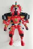 Power Rangers Dino Thunder Red Ranger Action Figure Morphs Triceratops Bandai