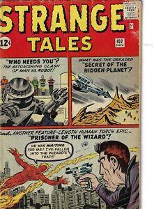 Strange Tales 102 Human Torch Wizard VG- 1962 Glossy Kirby