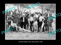 OLD LARGE HISTORIC PHOTO OF AUSTRALIAN MILITARY BOXING MATCH c1909