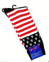 Men's American Flag Socks Novelty Patriotic Casual Star Stripe Red Blue Footwear