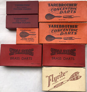 Lot of Vintage Darts Farebrother Flyrite Spalding & Farebrother Feather flights