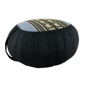 Zafu Meditation/Yoga Cushion with Carrying Handle - Black/Grey (DM15)