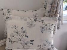 2 X 16 Inch Cushions And Inners Laura Ashley Villandry French Grey Velvet Fabric