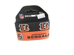 Cincinnati Bengals Bracelets 2 Pack Wide Rubber NFL