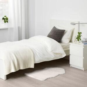 NEW IKEA TOFTLUND Faux sheepskin rug White