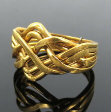 Unique 18K to 20K Solid Yellow Gold Multi Band Puzzle Ring Size 8.5