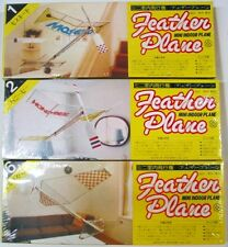 (3) Feather Mini Indoor Free Flight Balsa Model Plane Kits - Sealed - 1-2-6