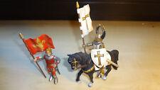SIMBA Knights Ritter Figur Reiter Fahnenträger NEU Set 2 Figuren