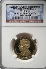 NGC MS67 2013-D Woodrow Wilson Presidential Dollar Uncirculated Early Releases