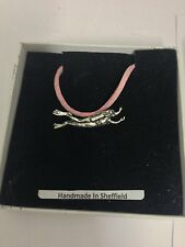 Female Scuba Diver Sport PP-U03 Pewter Pendant on a PINK CORD Necklace