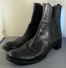Prada Leather Chelsea Ankle Boots in Black Size Euro 41 US 10.5