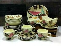 Vintage Red Wing Tampico 🍉 22-piece Luncheon Set for 4 ~ Futura Style ~ Kitschy