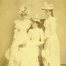 CABINET CARD PHOTO: Lovely LADIES All in WHITE ID'd Mrs KELSY & Her DAUGHTERS