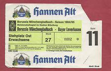 Orig.Ticket  1.Bundesliga  84/85  BORUSSIA MÖNCHENGLADBACH - BAYER 04 LEVERKUSEN