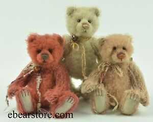 Charlie Bears Dinky, Diddy and Doobey matched set number 625 Minimo collection