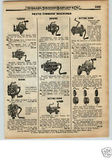 1922 PAPER AD 10 PG Tin Tinners' Tools Pexto Setting Down Machine Burring