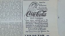 1914 Original COCA COLA CO AND REO MOTOR CAR CO AND OTHER ADVERTISING