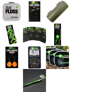 KORDA - CHOD RIGS & ACCESSORIES, SWIVELS, MOUTH TRAP, CHOD BEADS, BAIT FLOSS