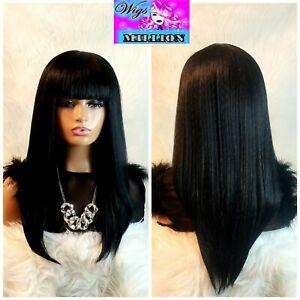 "Eboni"" heat resistant chinese bang bob wig"